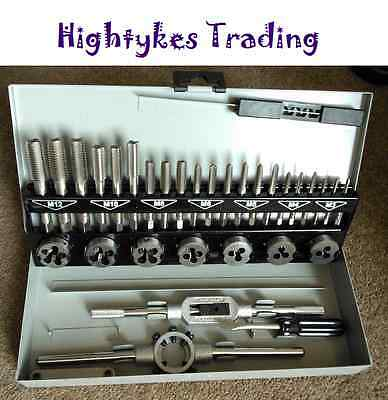 Engineering Quality 32 Pc HSS Metric First Second Finishing Tap and Die Set