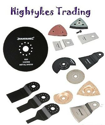 Silverline 260W Oscillating Multi Tool & Sawing Sanding Scraping Accessories