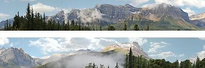 "Backdrop ROCKIES 23cm x 3m (9""x5' ) long Background Photo HO N ANY Scale ID260N"