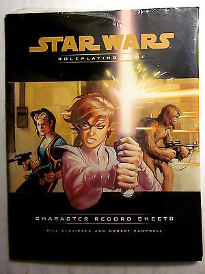 TSR #11795 Star Wars Roleplaying Game CHARACTER RECORD SHEETS (New/Shrinkwrap)