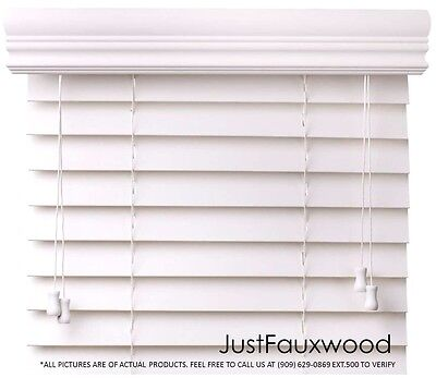 "CBC 2"" Faux Wood Blinds White Custom Width 10""-96"" x Height 36""-96"" - FREE SHIP"