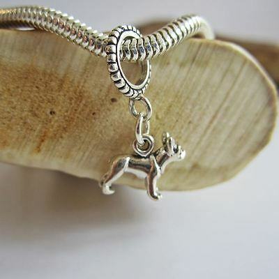 French Bulldog Mini Ster Silver European-Style Charm and Bracelet- Free Shipping