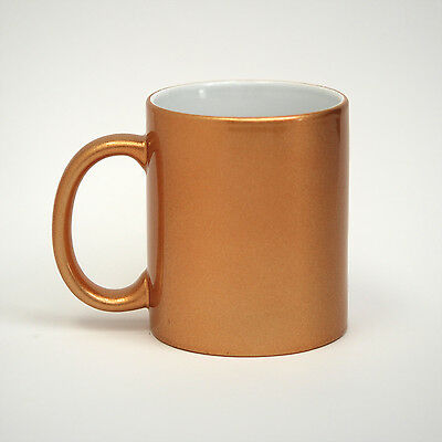 Overstock Sale! 11 oz Metallic Gold Sublimation Mugs - 36/case (21166)