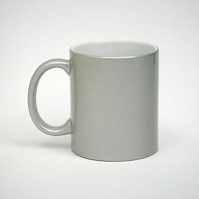 Sale! 11 oz Metallic Silver Sublimation Mugs - 36/case (21168)