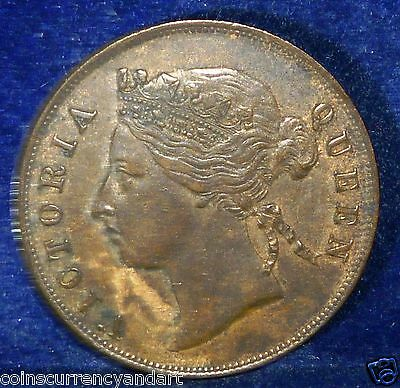 1888 Mauritius 5 Cents KM# 9  .QUEEN VICTORIA LOW MINTAGE COIN
