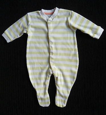 Baby clothes UNISEX BOY GIRL 0-3m apple green/white stripe babygrow NEW!SEE SHOP