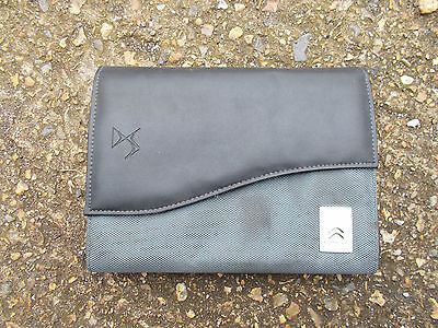 Citroen Grey Fabric Wallet For Owners Manual / Hand Book With Manufacturers Logo