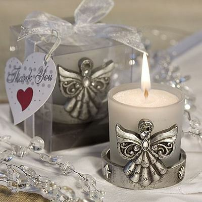 Set of 6 Angelic Candles Holder Baby Shower Christening Favors Gifts