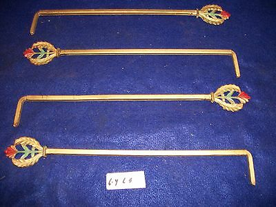 LOT OF VINTAGE-ANTIQUE-OLD- CAST IRON SWING A WAY DRAPERY -CURTAIN RODS- 4-each