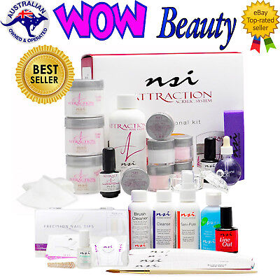 NSI Attraction Pro Kit - Acrylic Nails Liquid & Powder System + Free Gift