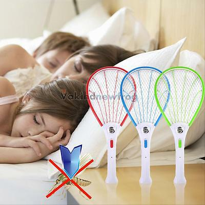 Rechargeable Electric Bug Insect Pest Fly Mosquito Killer Swatter Zapper Racket#