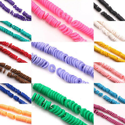 Wholesale 150Pcs Wafer Polymer Fimo Clay Rondelle Loose Spacer Beads 5x1mm Craft