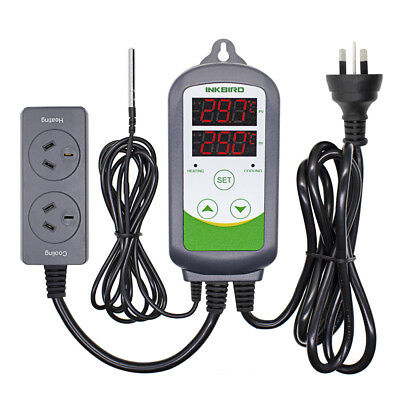AU PLUG 240V Dual Stage ITC-308S Temperature Controller Pre-wired Temp measure
