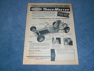 "1960 TrackMaster Karts Vintage Ad ""Introducing the Brand New GO! GO! GO!"""