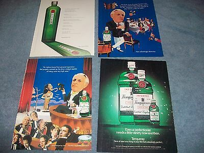 18 Ad Lot for Tanqueray English Gin 1990's thru 2000's