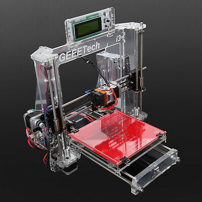 Acrylic I3 3D Printer Complete Kit MK8 Extruder DIY Fused Filament Fabrication