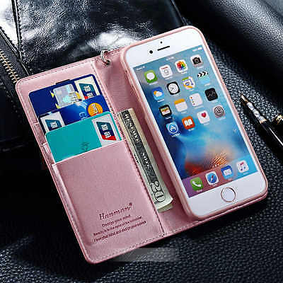 New Ultra-Thin Magnetic Leather Card Wallet Case Cover For iphone 5se 6s 6 plus
