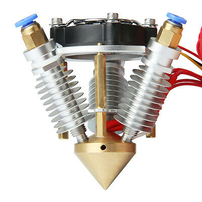 Geeetech extruder 3 in 1 out diamond hotend support 3 filaments Rostock printer