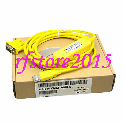 USB-XW2Z-200S-CV PLC Cable for Omron CJ/CS PLC RS232 Adapter win7 win8
