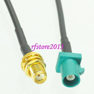 Cable RG174 6inch Fakra SMB Z 5021 male to SMA female bulkhead RF Pigtail Jumper