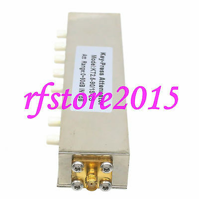 Attenuator Adjustable ADJ Variable SMA 10W DC-2.5GHz 0~90dB 1dB Step 8-Key-Press