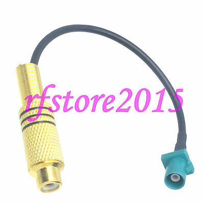 Cable RG174 6inch Fakra SMB Z 5021 male plug to RCA TV female RF Pigtail Jumper