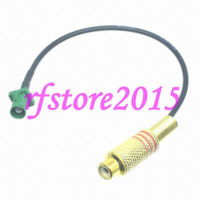 Cable RG174 8inch Fakra SMB E 6002 male plug to RCA TV female RF Pigtail Jumper