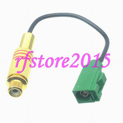 Cable RG174 8inch Fakra SMB E 6002 female to RCA TV female RF Pigtail Jumper