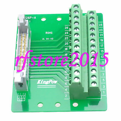 """IDC26 2x13 Pins 0.1"""" Male Header Breakout PCB Board 2 Row PLC adapter Interface"""