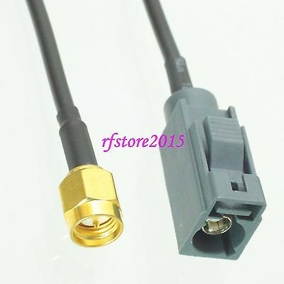 Cable RG174 6inch Fakra SMB G 7031 female to SMA male plug RF Pigtail Jumper