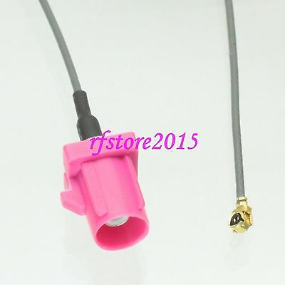 Cable 1.13mm 6inch Fakra SMB H 4003 male to IPX U.fl female RF Pigtail Jumper