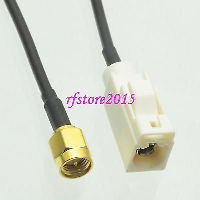 Cable RG174 6inch Fakra SMB B 9001 female to SMA male plug RF Pigtail Jumper