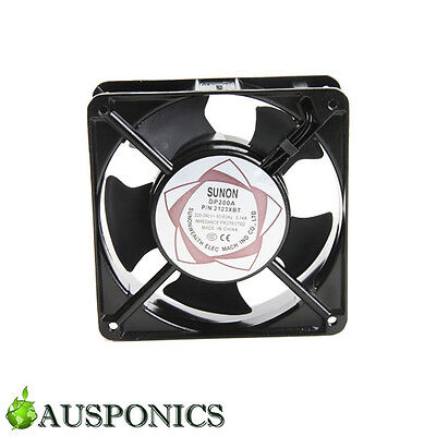 120MM 240V SUNON FAN With Cord For Hydroponics Grow Room Set Up
