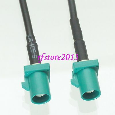 Cable RG174 6inch Fakra SMB Z 5021 male plug to Z male plug RF Pigtail Jumper