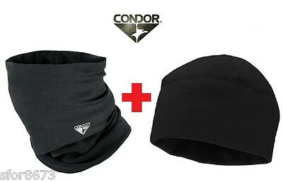 Combo Pack- Condor Micro-Fleece Multi-Wrap & Beanie (Scarf/neck Warmer/multicam)