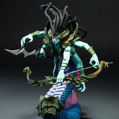 WOW WORLD of WARCRAFT LADY VASHJ TOY DELUXE BOXED ACTION FIGURE STATUE FIGURINES