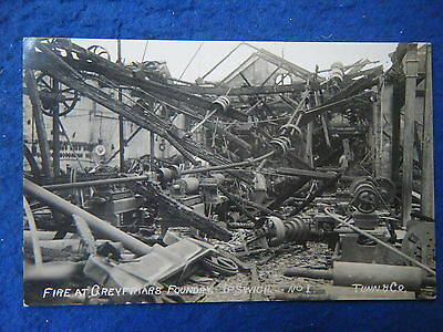 Ipswich: Fire At Greyfriars Foundry - Scarce Real Photo Postcard!!