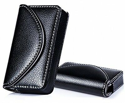 FYY 100% Handmade Premium Leather Business Name Card Case Universal Card Holder