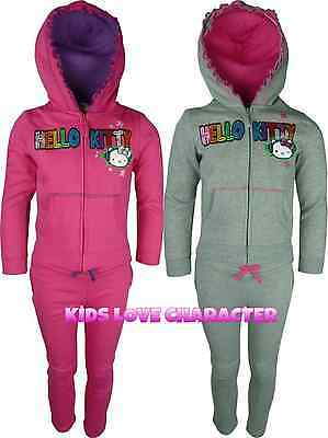 Hello Kitty Tracksuit Jogging Set Outfit Age 2-8 Years Bnwt Free 1St Class Post