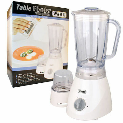 Wahl Table Electric Kitchen Food Blender 1.5l Clear Jug Stainless Blades - ZX805