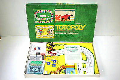 Totopoly - Vintage 1972 Horse Racing Board Game by Waddingtons - Complete