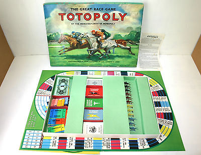 Totopoly - 1949 Edition Horse Racing Board Game by Waddingtons with Metal Horses