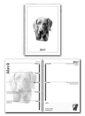 Weimaraner Small 2017 Dog Show Diary with Championship Show Dates