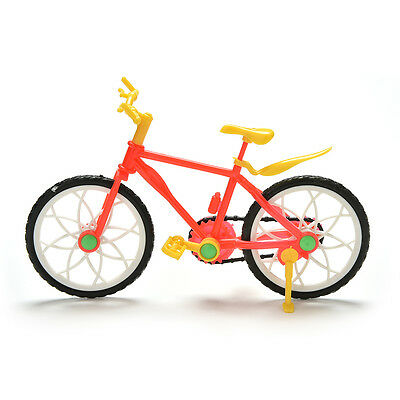 1 Pcs Creative Red Yellow Mountain Bike for Barbies Dolls BLS