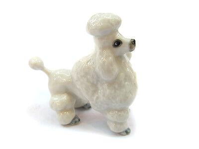 Dollhouse Miniatures Collectible Ceramic  Poodle Dog FIGURINE Animals