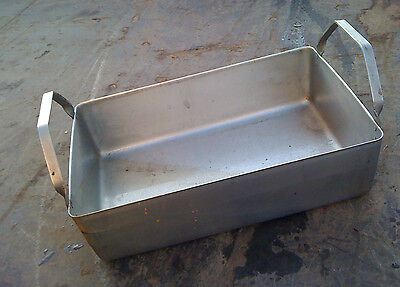 British Army Large Heavy Duty Stainless Steel 370x250mm Roasting Dish / Tray