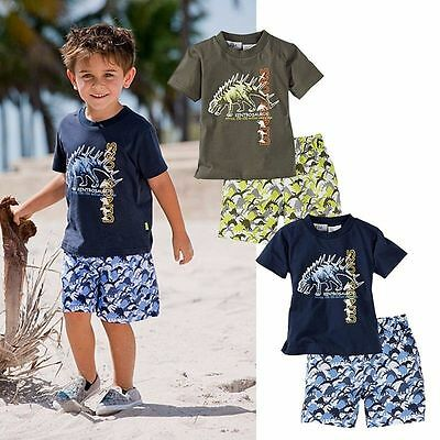 2pcs Toddler Kids Baby Boys Casual T-shirt Tops+Shorts Pants Outfits Clothes Set