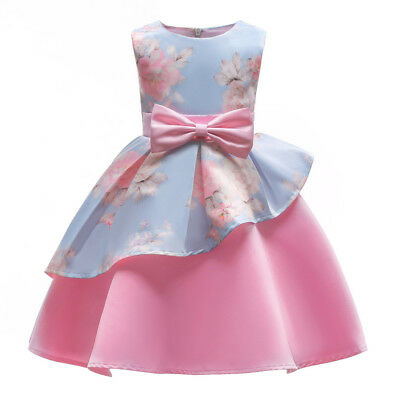 Vestito Bambina Abito Principessa Balza Flower Girl Princess Dress DG0041B P