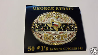 George Strait 50 NUMBER #1'S   Sticker /Decal Wrangler Cowboy Cut Collection