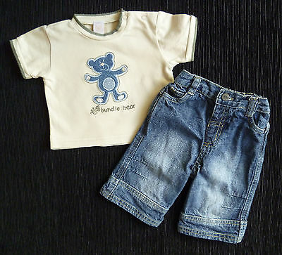Baby clothes BOY 0-3m Morris Mouse denim jeans/Little Bundle top quality t-shirt
